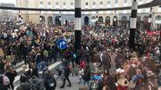 La manifestation s'est clôturée là où elle a débuté : à la Gare Centrale de Bruxelles