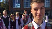 Vitautas est fier se partager un bout de culture lituanienne avec les jeunes européens.