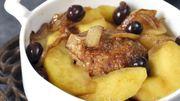 Recette : Pintade aux pommes reinettes et aux olives