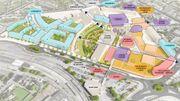 """Outre des commerces, """"la Strada"""" devrait intégrer des bureaux, 8 salles de cinéma, des bars et restaurants ainsi que plusieurs infrastructures sportives et de loisir."""