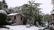 La neige s'est aussi emparée des jardins de Stembert (Verviers)