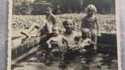 Evelyn Titeca (à droite) avec son grand-oncle