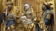 """Jésus, Marie et Joseph, sujets de l'exceptionnel """"retable de Saluces"""""""