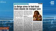 Le belge aime le fast-food mais essaie de manger sain !