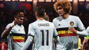 Michy Batshuayi, Yannick Carrasco et Marouane Fellaini lors de l'Euro 2016