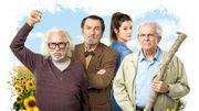 """Pierre Richard, Eddy Mitchell et Roland Giraud dans l'adaptation de la BD """"Les Vieux Fourneaux"""""""