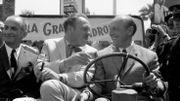 """Le duo mythique De Funès - Bourvil, avec Terry Thomas, pour la présentation de """"La grande vadrouille"""", en 1966 à Cannes."""