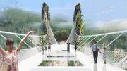 Une impressionnante passerelle de verre inaugurée à l'automne en Chine