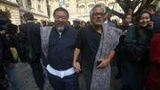 Crise des migrants - Les artistes Ai Weiwei et Anish Kapoor marchent à travers Londres pour les réfugiés