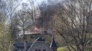 incendie bois Wépion chemin du Beau Vallon
