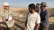 Daniel Fontaine (à gauche) en reportage en Cisjordanie.