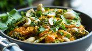 Recette: Curry de poule au brocoli et noix de cajou