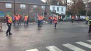 A Charleroi ce lundi matin: blocage d'un carrefour