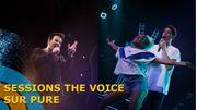 Guillaume et Ola en 'Sessions The Voice sur Pure' cet après-midi