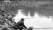 Un concours de pêche, en 1965.