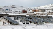Neige sur le camp de réfugiés d'Arsal, dans la Bekaa libanaise