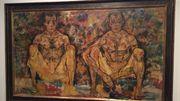 Schiele, Hommes accroupis, 1918