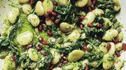 Recette de Candice: Salade de pancetta et de haricots blancs au pesto de pistaches