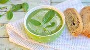 Soupe aux épinards et lait de coco