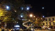 Installation des illuminations de Noël dans le centre de Liège