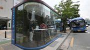 Corée du Sud: un abribus innovant pour lutter contre le coronavirus