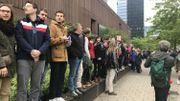 Environ 600 personnes sont présentes au rassemblement citoyen à la Gare du Nord