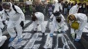 Pendant la manifestation anti-TTIP et anti-CETA ce mardi à Bruxelles
