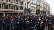 Pacte de Marrakech: 500 manifestants contre le racisme réunis devant la CGSP