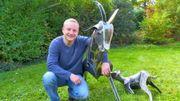 A Nassogne, Xavier Embise façonne le métal et crée des animaux