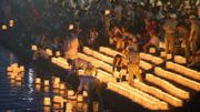 Japanese Obon Buddhist Festival - Syôrô nagashi