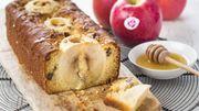Recette : Cake aux pommes et miel
