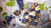 Recette: Brochettes d'aiguillettes de canard et de poulet au raisin Muscat