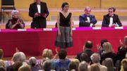 Jodie Devos recevant son deuxième prix, lors de la proclamation, le 31 mai 2014