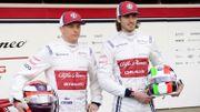 Kimi Raikkonen et Antonio Giovinazzi