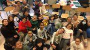 Notre classse de Bruxelles (Pagodes)