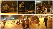Les manifestants n'ont pas hésité à se lancer à l'assaut de tanks.