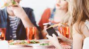80% des Belges n'utilisent pas leur smartphone à table
