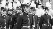 Le futur roi Philippe lors d'une cérémonie militaire le 26 septembre 1980.