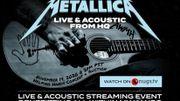 Un concert acoustique donné en live par Metallica