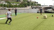 Une partie de foot sur la Meuse?
