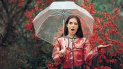 I'm singing in the rain with my make-up!