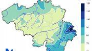 quantités de précipitations en septembre