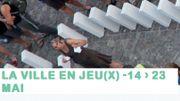 """Mons 2015 - Jeu de dominos géant à Mons lors du festival """"La Ville en jeu(x)"""""""