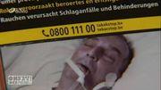 La photo de son père hospitalisé sur des paquets de cigarettes: il veut avoir des réponses