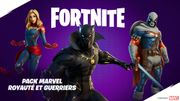 Black Panther et Captain Marvel s'invitent dans Fortnite