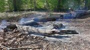 Le feu constaté ce mardi matin et éteint par les pompiers.