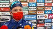 Un Remco Evenepoel fier, heureux et les larmes aux yeux après la 1ère étape du Giro