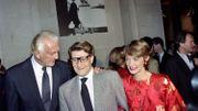 de Givenchy, Yves Saint-Laurent et Loulou de la Falaise en 1991 au Palais Galliera, à Paris