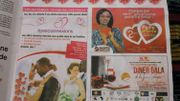 Àl'approche de la Saint-Valentin, les offres promotionnelles de tout ordre pullulent dans les rues et sur Facebook