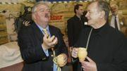 Albert Uderzo et Freddy Thielemans, l'ex-bourgmestre de Bruxelles